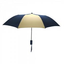 Custom Navy and Khaki Mini 42 inch Arc Logo Umbrellas