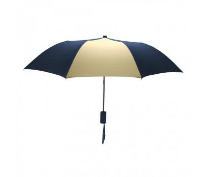 Custom Navy & Khaki Mini 42 inchArc Logo Umbrellas