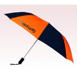 Custom Navy & Orange 43 inchWind Logo Imprinted Umbrellas
