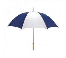 Custom Navy & White 60 inchArc Sport Golf Logo Umbrellas