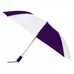 Custom Purple & White 43 inchWind Logo Imprinted Umbrellas