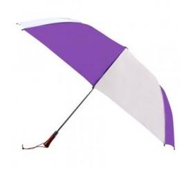 Custom Purple & White 60 inchArc Auto Open Golf Umbrellas