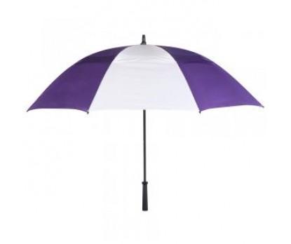 Custom Purple & White 62 inch Arc Vented Golf Umbrellas