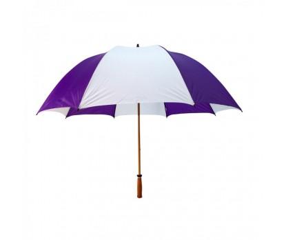 Custom Purple & White 64 inchArc Mulligan Golf Umbrellas