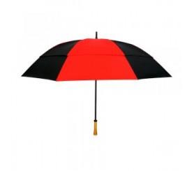 Custom Red & Black 64 inchArc Vented Golf Umbrellas
