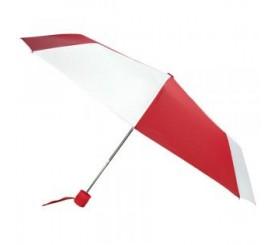 Custom Red & White 43 inchManual Open Mini Fold Umbrellas