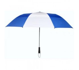 Custom Royal Blue & White 58 inchArc Vented Economy Umbrellas