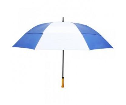 Custom Royal Blue & White 64 inchArc Vented Golf Umbrellas
