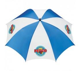 Custom Royal & White 62 inchArc Golf Tour Logo Umbrellas