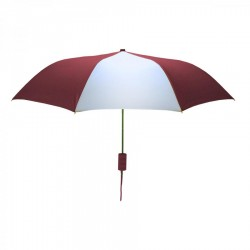 Custom Wine and White Mini 42 inch Arc Logo Umbrellas