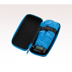 Customized Black and Blue 37 inch Arc Folding Custom Logo Umbrellas