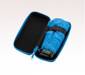 Customized Black & Blue 37 inch Arc Folding Custom Logo Umbrellas