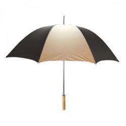 Customized Black & Khaki 60 inchArc Sport Golf Logo Umbrellas