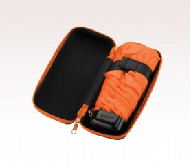 Customized Black & Orange 37 inch Arc Folding Custom Logo Umbrellas