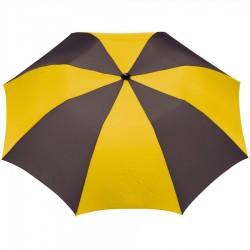 Customized Black & Yellow 42 inchArc Printed Umbrellas