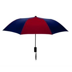 Customized Burgundy & Navy Mini 42 inchArc Logo Umbrellas