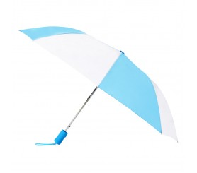 Customized Carolina Blue & White 43 inchWind Logo Imprinted Umbrellas