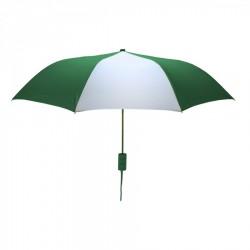 Customized Hunter and White Mini 42 inch Arc Logo Umbrellas