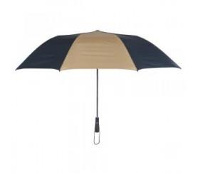 Customized Navy Blue & Khaki 58 inchArc Vented Economy Umbrellas