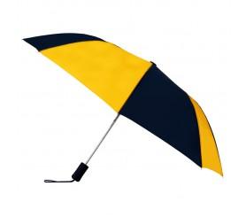 Customized Navy & Gold 43 inchWind Logo Imprinted Umbrellas