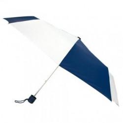 Customized Navy & White 43 inchManual Open Mini Fold Umbrellas