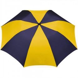 Customized Navy & Yellow 42 inchArc Printed Umbrellas