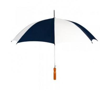 Customized Navy blue & White 48 inchAuto Open Logo Umbrellas