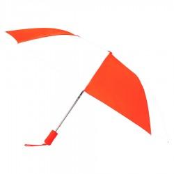 Customized Orange & White 43 inchWind Logo Imprinted Umbrellas