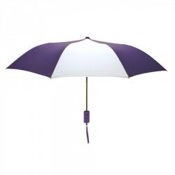 Customized Purple and White Mini 42 inch Arc Logo Umbrellas