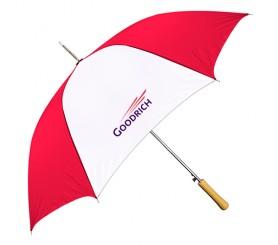 Customized Red & White 48 inchArc Auto-Open Fashion Umbrellas