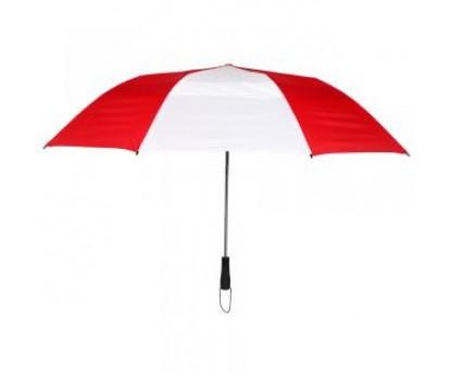 Customized Red & White 58 inchArc Vented Economy Umbrellas
