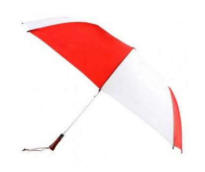 Customized Red & White 60 inchArc Auto Open Golf Umbrellas