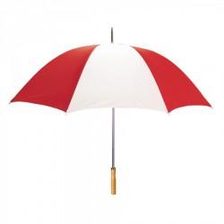 Customized Red & White 60 inchArc Sport Golf Logo Umbrellas
