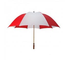 Customized Red & White 64 inchArc Mulligan Golf Umbrellas