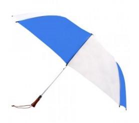 Customized Royal Blue & White 60 inchArc Auto Open Golf Umbrellas