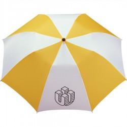 Customized Yellow & White 42 inchArc Printed Umbrellas