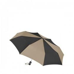 Personalized Black & Khaki 43 inch Arc Totes Auto-Open/Close Umbrellas