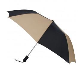 Personalized Black & Khaki 43 inchWind Logo Imprinted Umbrellas