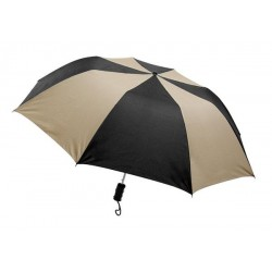 Personalized Black & Khaki 44 inch Arc Barrister Auto-Open Folding Umbrellas