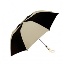 Personalized Black & Khaki 58 inch Arc Traveler Auto- Open Umbrellas