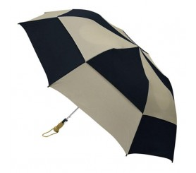 Personalized Black & Khaki 58 inch Arc Traveler Deluxe Auto- Open Umbrellas