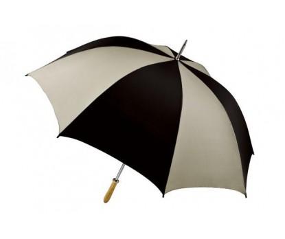 Personalized Black & Khaki 60 inch Arc Pro-Am Golf Umbrellas
