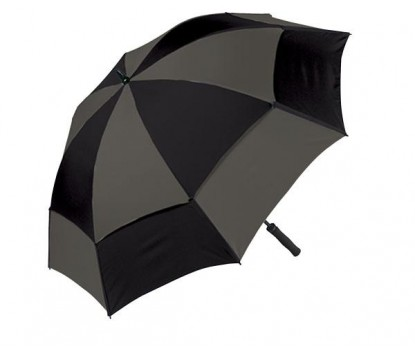 Personalized Black & Pewter 62 inch Arc Wind Tamer Windproof Umbrellas