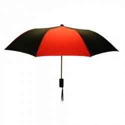 Personalized Black & Red Mini 42 inchArc Logo Umbrellas