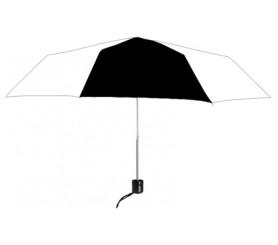 Personalized Black & White 41 inch Arc Econo Folding Umbrellas