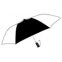 Personalized Black & White 42 inch Arc Windproof Vented Auto - Open Umbrellas