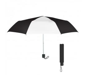 Personalized Black & White 42 inchArc Budget Telescopic Umbrellas