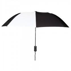 Personalized Black & White 43 inch Arc Pakman Umbrellas