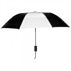 Personalized Black & White 43 inch Arc Raindrop Umbrellas