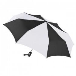 Personalized Black & White 43 inch Arc Totes Auto-Open/Close Umbrellas